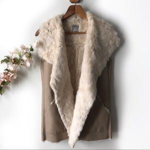Zara Faux Leather Fur Vest